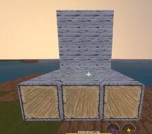 Creativerse R40 Ashenwood Logs building blocks001