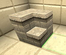 Creativerse R41,5 stairs inner and outer corners 214