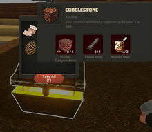 Creativerse Cobblestone Wood Chest558