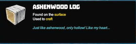 Creativerse R40 Ashenwood Log tooltip001