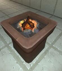Creativerse flower pot with campfire 2017-08-08