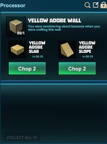 Creativerse processing slopes yellow adobe