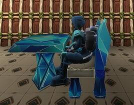 Creativerse R38 diamond chair sitting002