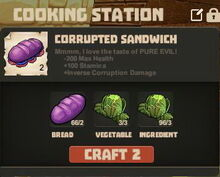 Creativerse cooking Corrupted Sandwich004