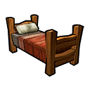 Bed Wood Red