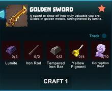 Creativerse R41 crafting recipes golden swords