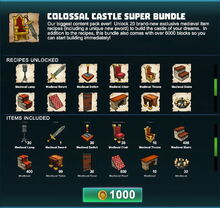 Creativerse Colossal Castle super bundle R41 02