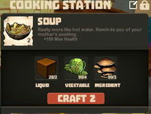 Creativerse cooking soup with Molasses and Mushrooms01