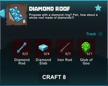 Creativerse crafting recipes roofs R41,5 10
