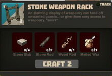 Creativerse Stone Weapon Rack58