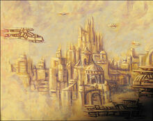 Golden City above the Clouds 2