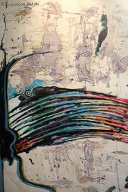 EMolskiDreamabouttheRainbow-watercoloroilpastels70x100cm