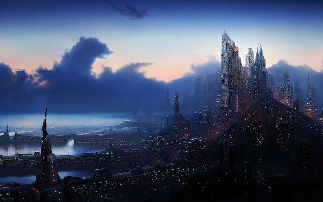File:Capital City of Centanium at night.jpg