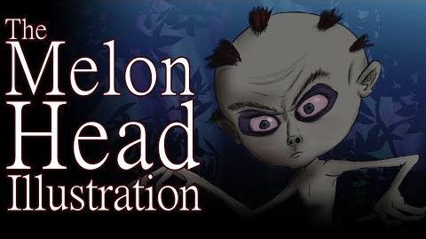 """""""The Melon Head Illustration"""" by Raidra - Creepypasta"""