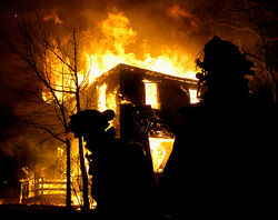 Material Objects Burning House