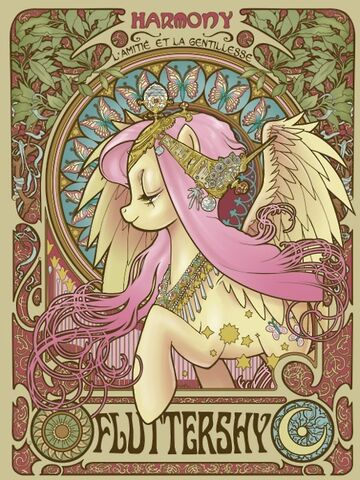 File:Alphonse-mucha-fluttershy-friendship-is-magic-my-little-pony-Favim.com-349557.jpg