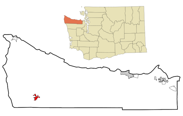 Archivo:800px-Clallam County Washington Incorporated and Unincorporated areas Forks Highlighted svg.png