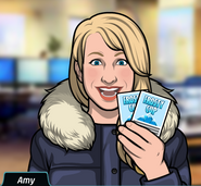 Amy-Holding Frosty Cup Tickets