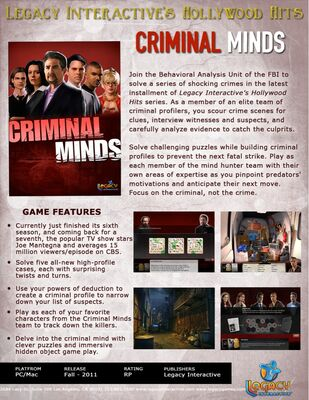 Criminal Minds/Game