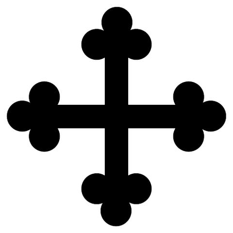 Arquivo:Cross-Bottony-Heraldry.png
