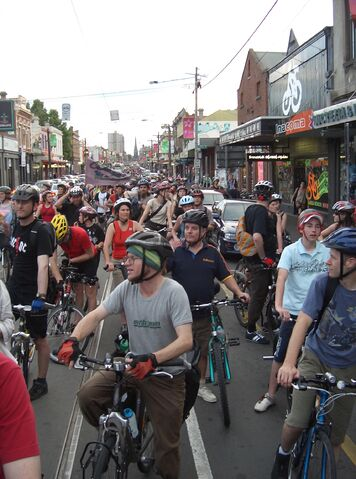 File:Critical Mass Melbourne - Brunswick St.JPG