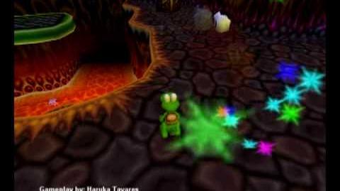 Croc 2 (PC) - Caveman Village - Climb the Devil's Tower