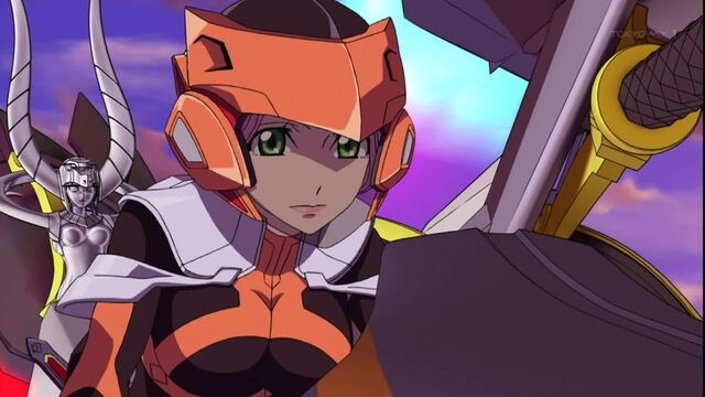 File:Cross Ange ep 22 Ersha piloting and escapes and defecting from Embryo.jpg