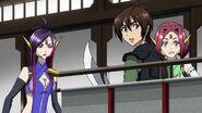 Cross Ange ep 15 Tusk, Naga and Kaname