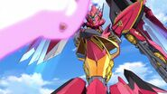 Cross Ange ep 13 Villkiss Michael Mode Destroyer Mode beam sword
