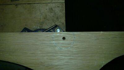 Drilling the nut socket - 01