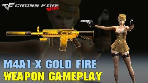 CrossFire - M4A1-X Gold Fire - Weapon Gameplay
