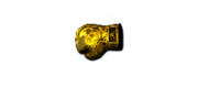 GLOVES GOLD DESERT SKULL