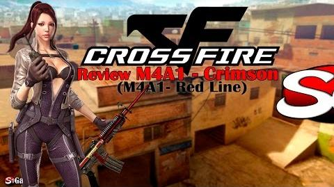 ☆CrossFire BR - Review da M4A1- Crimson (M4A1- Red Line) 17✔