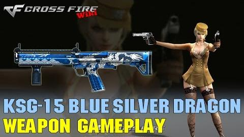 CrossFire - KSG-15 Blue Silver Dragon - Weapon Gameplay