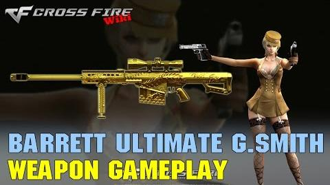 CrossFire - Barrett M82A1 Ultimate Goldsmith - Weapon Gameplay