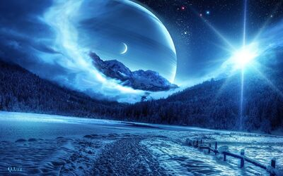 Pictures-Of-Beautiful-Creative-Design-Forest-Winter-Planet-Space