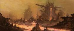 Volcanic landscape by jackfrozz-d4rtcde