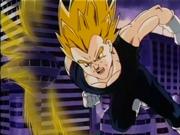Mitsubi as a Super Saiyan 2 fighting