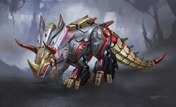 Transformers Fall of Cybertron - Concept Art Slug Dinobot Final