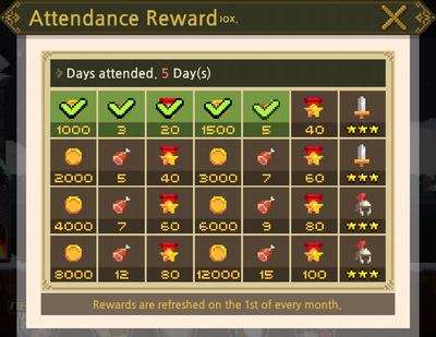 Attendance Rewards
