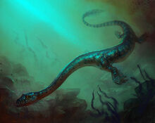 Sea Serpent 2d fantasy dinosaur underwater picture image digital art