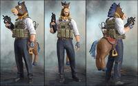 Horse costume barrack ss