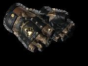 Studded bloodhound gloves bloodhound snakeskin brass light large