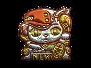 Csgo-sticker-lucky cat foil
