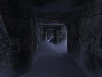De survivor tunnel from river to bridge