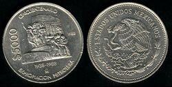 Mexico 5000 pesos 1988