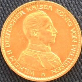 File:Preußen Wilhelm II in Uniform 20 Mark.JPG