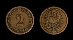 2-Pfennig-Coin-Deutsches-Reich-1876-J-JR-4350-4351