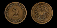 German 2 pfennig coin (1873-1916)