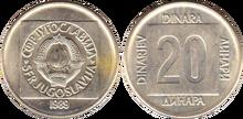 Yugoslavia 20 dinara 1989 img2